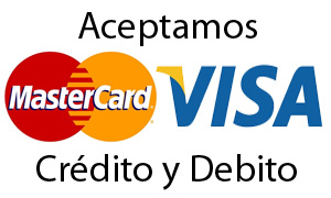 Aceptamos Visa - Master Card